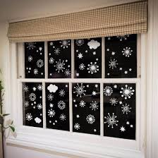80 Funky Snowflakes Stars Clouds Cling Window Stickers Window Flakes
