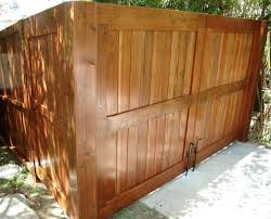 Wooden Driveway Gate Double Gate Traditional Exterior Los Angeles By Harwell Fencing And Gates Inc