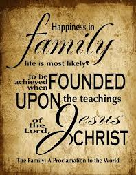 happiness in a family is most likely to be achieved when founded