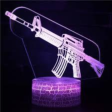 Creative Pistol 3d Table Lamp Luminaria Led Night Lights Kids Children S Room Decorative Lighting Great Gift For Kids Wish