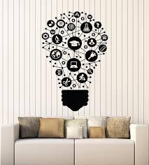 Vinyl Wall Decal Science School Study Lamp Idea Lightbulb Teen Room St Wallstickers4you
