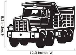 Dump Truck Vinyl Ready Wall Decal Wallmonkeys Com