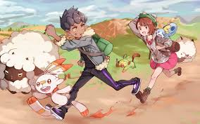 Download 2560x1600 Hop, Grookey, Pokemon Sword & Shield, Scorbunny ...