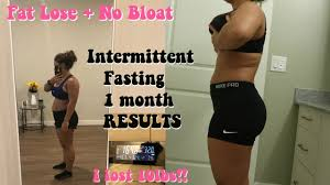 intermittent fasting 1 month weight