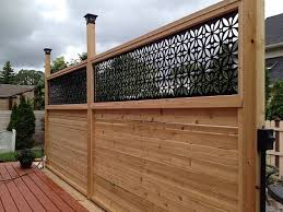 Hiddenflower1 Metal Privacy Screen Decorative Panel Garden Decor Art In 2020 Privacy Fence Designs Backyard Privacy Backyard Patio Designs