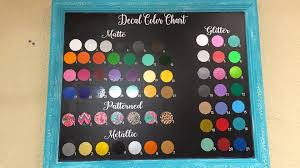 Aria Grace Decal Color Chart For Tumblers Facebook