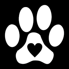 Paw Print With Heart Vinyl Decal For Car Window By Lazydogconcepts Vinyl Decals Paw Print Silhouette