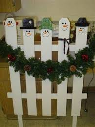 Snowman Picket Fence Christmas Crafts Snowman Christmas Wood Christmas Decorations