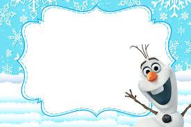Pin De Romina Segovia En Cumple Olaf Invitaciones De Frozen