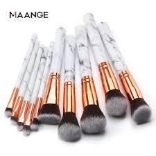 maange 10pcs makeup brushes soft make