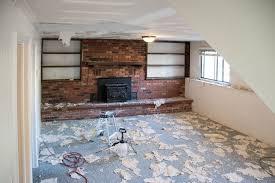 popcorn ceilings removing the carpet