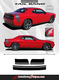 2011 2020 Dodge Challenger Tailband Rear Trunk Stripe Decal Graphic Auto Motor Stripes Decals Vinyl Graphics And 3m Striping Kits