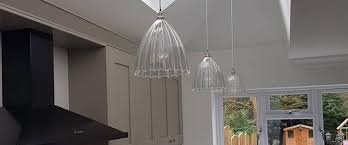 pendant lights on a sloping ceiling