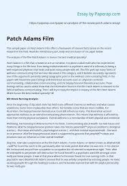 Patch Adams Film Essay Example