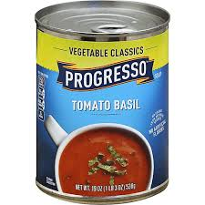 progresso tomato basil soup less