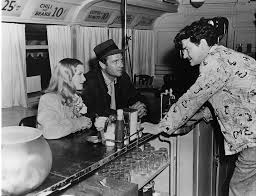 """Veronica Lake, Joel McCrea and Preston Sturges on the set of """"Sullivan's  Travels"""" - The Old Hollywood Times"""
