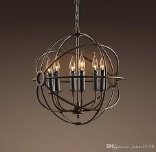 retro nordic round iron pendant light