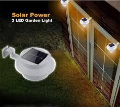 Buy Solar Powered Led Fence Light Outdoor Garden Wall Lobby Pathway Lamp Bazaargadgets Com