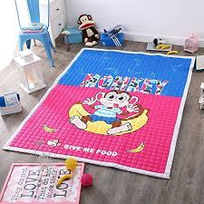 Kids Cartoon Rug Monkey Children S Floor Mats Anti Slip R Https Www Amazon Com Dp B01hohd89q Ref Cm Sw R Pi Dp X Childrens Floor Kids Rugs Kids Play Area