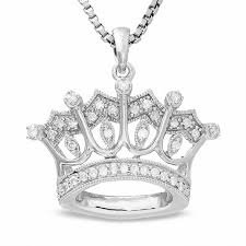 sterling silver crown pendant with