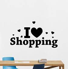 Amazon Com I Love Shopping Wall Decal Shop Showcase Window Vinyl Sticker Supermarket Wall Art Design Store Wall Decor Housewares Bedroom Decor Removable Wall Mural 30rt Home Kitchen
