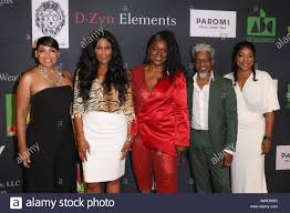 "2019 Breaking Barriers Awards Gala and Fashion Show at the Los Angeles  Convention Center in Los Angeles, California on August 4, 2019. Featuring: Adai  Lamar, Beverly Johnson, Stormy Weather Banks, Thomas ""TJ"""