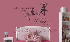 Dance Wall Decal Girls Room Decal Dancing Wall Sticker 30 00 Via Etsy Girls Room Decals Dance Wall Decal Wall Decals Girls Room