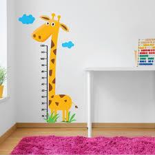 Giraffe Measuring Chart Wall Decal Childrens Wall Vinyl Etsy