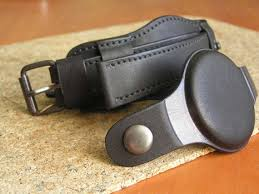black watch strap 22mm genuine leather