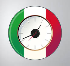 Italy Wall Clock Sticker For You Tenstickers