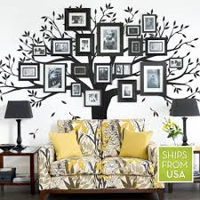Amazon Com Simple Shapes Family Tree Wall Decal Black Standard Size 107 W X 90 H Posters Prints