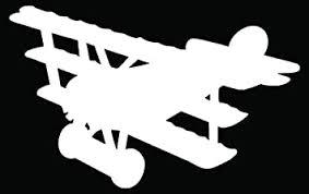 Amazon Com Biplane Pilot Airplane Car Truck Window Bumper Vinyl Graphic Decal Sticker 20 Inch 50 Cm Wide Gloss White Color Automotive