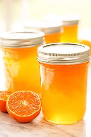 orange jelly sunshine in a jar bowl