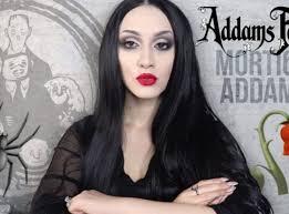 morticia addams halloween makeup