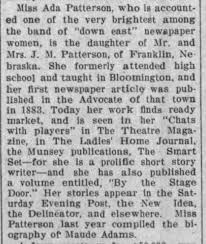Nebraska Happenings-Ada Patterson, daughter of Mr/Mrs J M Patterson of  Franklin - Newspapers.com