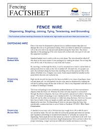 Fence Wire Dispensing Stapling Joining