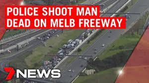 Monash Freeway shooting: Man with knife ...