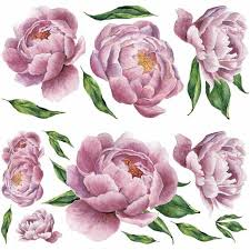 Peony Roommates Pink Peel And Stick Giant Wall Decals Us Wall Decor