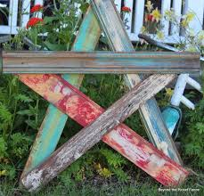Beyond The Picket Fence Summer Art Ideas Scrap Wood Projects Wood Stars Wood Pallet Projects