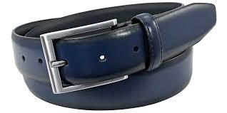 men s blue leather belt dress belt
