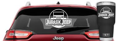 Jurassic Jeep Wrangler Yj Vinyl Decal Jeep Wrangler Decal