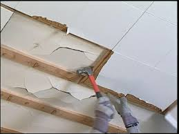 replace ceiling tiles with drywall
