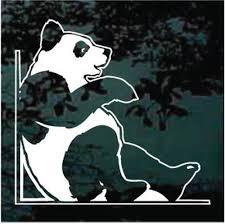 Panda Bear Walking Car Window Decals Stickers Decal Junky