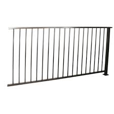 Protector Aluminium 2000 X 1010mm Black Flat Top Ulti M8 Balustrade Panel With Post