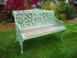 antique victorian garden bench