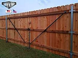 True Latch 8 Telescopic Fully Adjustable Gate Brace Wood Privacy Fence Anti Sag Gate Kit Extends From 52 To 96 Gate Hardware Kit For Outdoor Yard Wooden Fence Gates