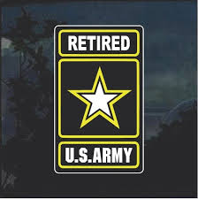 Us Army Retired Full Color Military Window Decal Stickers Custom Sticker Shop Us Army Military Graphics Army Veteran