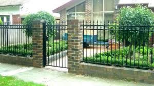 brick and metal fence designs brick