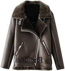 leather jacket plus size faux fur lined