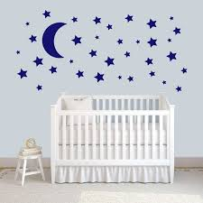 Shop Moon And Stars Wall Decal Set Overstock 20753707